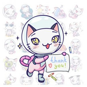 Stickers Astro Kitty Telegram