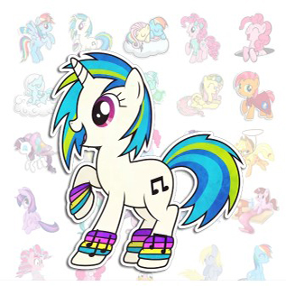 Stickers Pony My little telegram