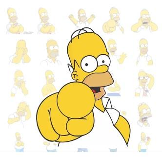 Гомер Симпсон телеграмм стикеры